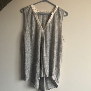 Gap Tank Top With Cream Satin Details